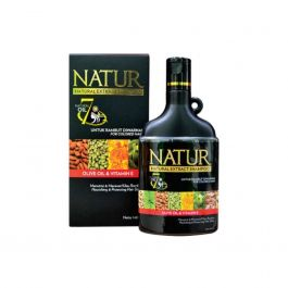 Natur Natural Extract Shampoo Olive Oil & Vitamin E For Damaged & Coloured Hair 140 ml